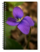 Purple Pansy Spiral Notebook