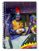 Purple Party People Spiral Notebook