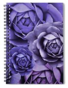 Purple Passion Rose Flower Abstract Spiral Notebook