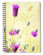 Purple Passion Texture Spiral Notebook