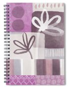 Purple Patchwork- Contemporary Art Spiral Notebook