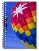 Purple People Eater Rides The Wind Spiral Notebook