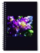 Purple Petunia Portrait Spiral Notebook