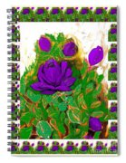 Purple Roses From The Garden 2 Spiral Notebook