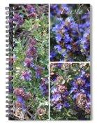 Purple Sage Collage Spiral Notebook
