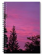 Purple Sky At Night Spiral Notebook