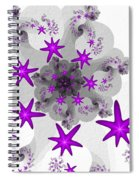 Purple Stars Spiral Notebook