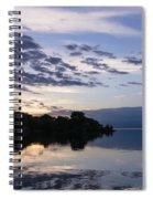 Purple Sunrise Clouds Spiral Notebook