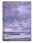 Purple Sunset At The Beach Spiral Notebook