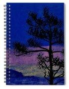 Purple Sunset Bay Spiral Notebook