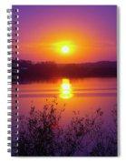 Purple Sunset Spiral Notebook