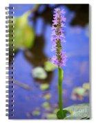 Purple Swamp Flower Spiral Notebook