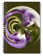 Purple Swirl Orb Spiral Notebook