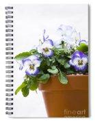 Purple Swirl Violas Spiral Notebook