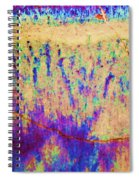 Purple Tan Stone Abstract Spiral Notebook