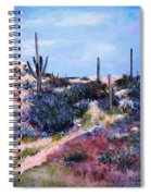 Purple Time Of Day Spiral Notebook