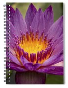 Purple Tropical Water Lily Spiral Notebook