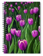 Purple Tulip Field Spiral Notebook
