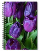 Purple Tulips Spiral Notebook
