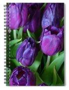 Purple Tulips Spiral Notebook