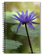 Purple Water Lily In The Shade Spiral Notebook