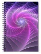 Purple Web Spiral Notebook