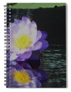 Purple White Yellow Lily Spiral Notebook