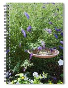 Purple Wild Flowers 1 Spiral Notebook
