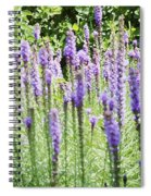 Purple Wild Flowers 2 Spiral Notebook
