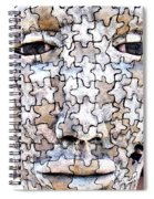 Puzzled Man No2 Spiral Notebook