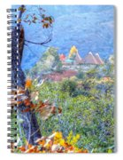 Pyramid Houses In Fall Watercolors Spiral Notebook