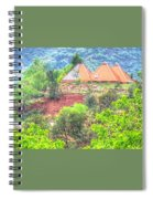 Pyramid Houses In Spring II Spiral Notebook