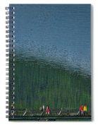 Pyramid Island Bridge Spiral Notebook