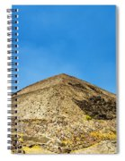 Pyramid Of The Sun Spiral Notebook