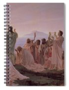 Pythagoreans' Hymn To The Rising Sun Spiral Notebook
