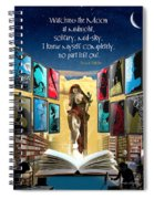 The New Learning Temple With Pythia Spiral Notebook
