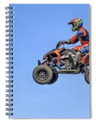 Quad Flying Through The Air Spiral Notebook