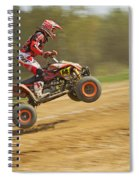 Quad Racer Jumping Spiral Notebook