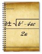 Quadratic Equation - Aged Spiral Notebook