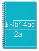 Quadratic Equation Aqua-white Spiral Notebook