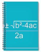 Quadratic Equation Aqua-white Spiral Notebook