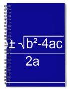 Quadratic Equation Blue-white Spiral Notebook