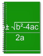 Quadratic Equation Green-white Spiral Notebook