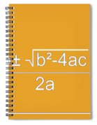 Quadratic Equation Orange-white Spiral Notebook