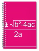 Quadratic Equation Spiral Notebook