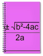Quadratic Equation Pink-black Spiral Notebook