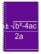 Quadratic Equation Violet-white Spiral Notebook