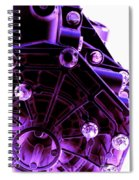 Quadrent Purple Spiral Notebook