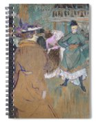 Quadrille At The Moulin Rouge, 1892 Spiral Notebook