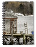 Quaint Fishing Shack New Hampshire Spiral Notebook